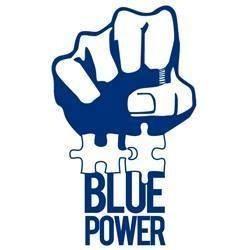 Blue Power Disc Golf logo