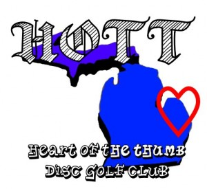 Heart of the Thumb (HOTT) Disc Golf Club logo