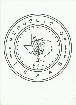Republic Of Texas Disc Golf Club logo