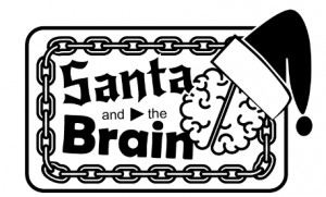 Santa and The Brain logo