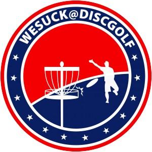WeSuck@DiscGolf logo