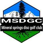 Mineral springs disc golf club logo