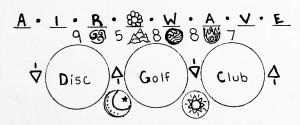 Air Wave Disc Golf Club logo