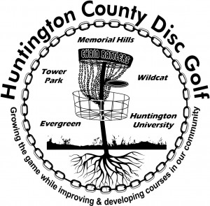 Huntington County disc golf club logo