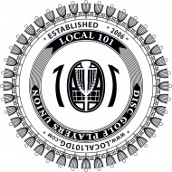 Local 101 Disc Golf Players Union logo