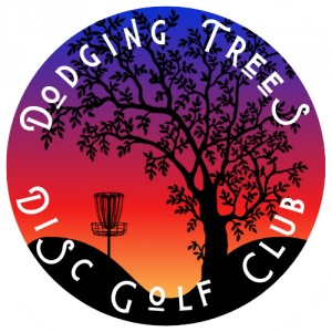 Dodging Trees Disc Golf Club logo