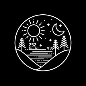 252 disc golf logo