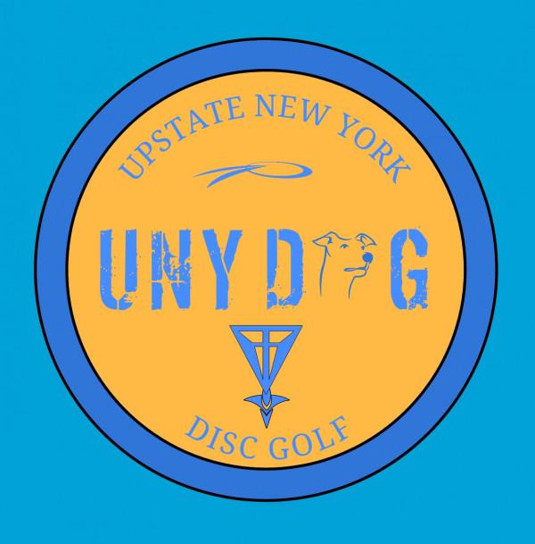 UNYDoG (Upstate New York Disc Golf) logo