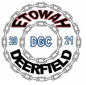 """""""Etowah / DeerField Disc Golf Club"""" logo"""