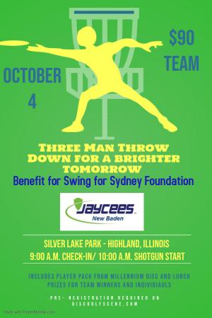 New Baden Jaycees & Swing For Sydney Foundation logo