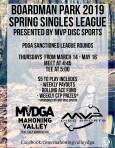 Boardman Park 2019 Spring Singles League presented by MVP Disc Sports (PDGA Sanctioned) logo