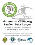 Champoeg Thursday Night Random Dubs 2019 logo