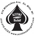 """AceTime DiscGolf Glow League"" logo"