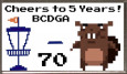 2021 BCDGA Cheers to 5 Years Bag Tag League logo
