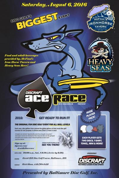 2017 Druid Hill Discraft Ace Race logo