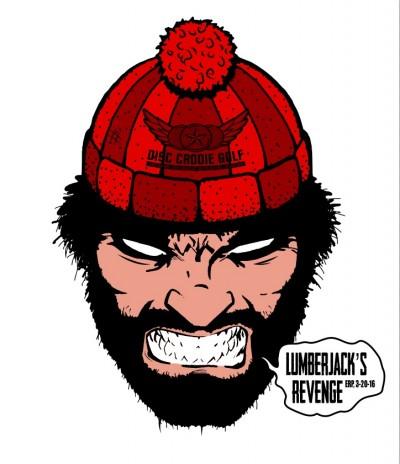 Disc Caddie Event #1, Lumberjack's Revenge logo