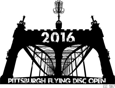 The 2016 Amateur Pittsburgh Flying Disc Open logo