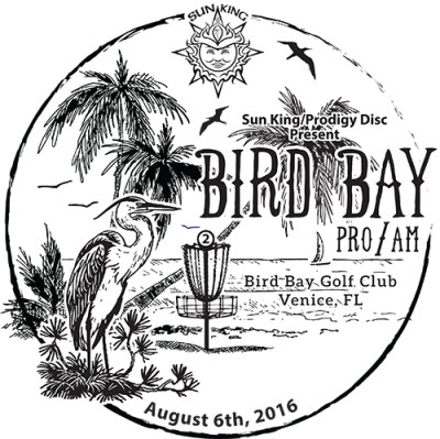 Sun King/Prodigy Disc Present Bird Bay Pro/Am logo