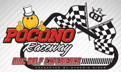MrDiscGolf's Pocono Raceway Disc Golf Experience presented by Dynamic Discs logo