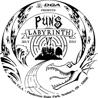 The DGA Presents Puns Labyrinth VI logo