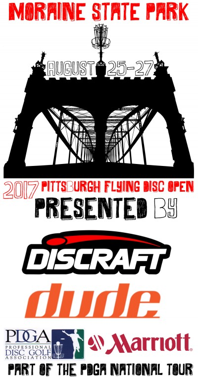 Pittsburgh Flying Disc Open Presented by Discraft logo