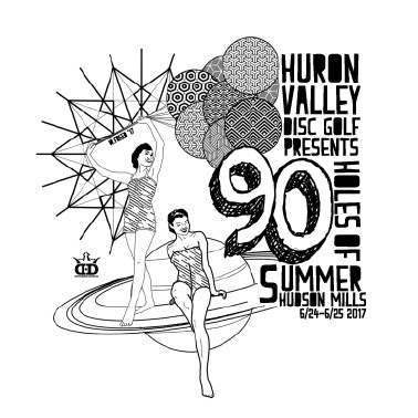 90 Holes of Summer Presented by Dynamic Discs logo