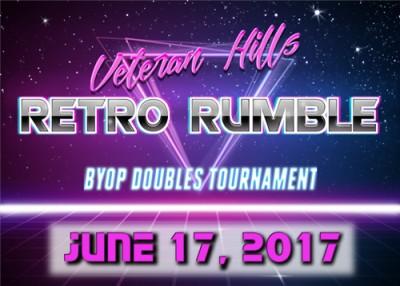 Veteran Hills Retro Rumble BYOP Doubles Tournament logo