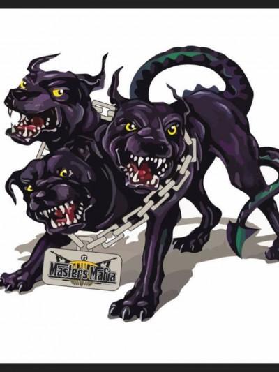 Three headed monster logo