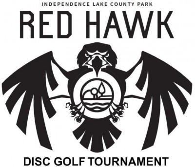 3rd Annual Red Hawk Glow Disc Golf Tournament AM ONLY logo