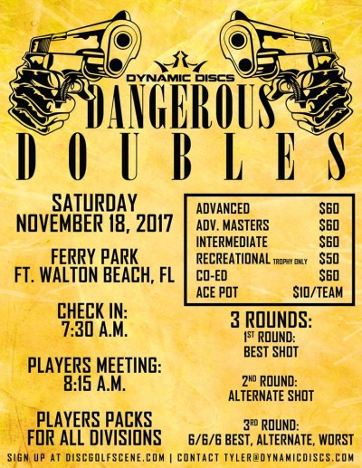 Dangerous Doubles presented by Dynamic Discs logo