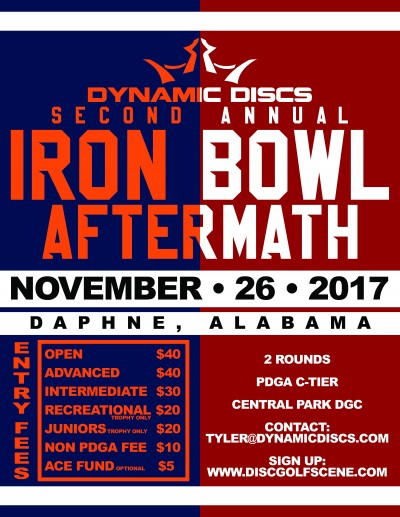 2nd Annual Iron Bowl Aftermath presented by Dynamic Discs & Prodigy Discs logo