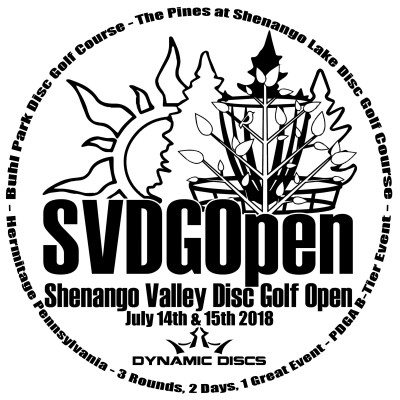 Shenango Valley Disc Golf Open 2018 sponsored by Dynamic Discs logo