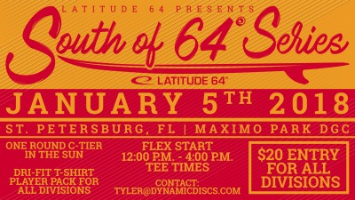 Flex Start C Tier in the Sun presented by Latitude 64 logo