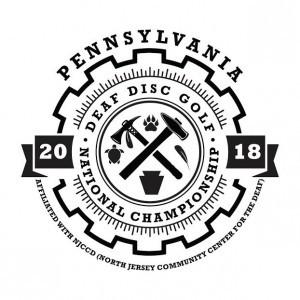 2018 Deaf Disc Golf Association National Championship logo