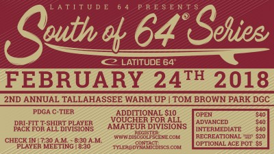 2nd Annual Tallahassee Warm Up presented by Latitude 64 logo