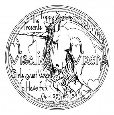 "Poppy Series Presents: Visalia Vixen ""Girls Just Want To Have Fun"" logo"
