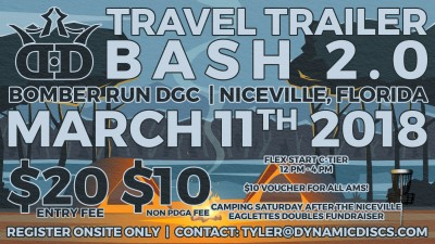 Travel Trailer Bash 2.0 presented by Dynamic Discs logo