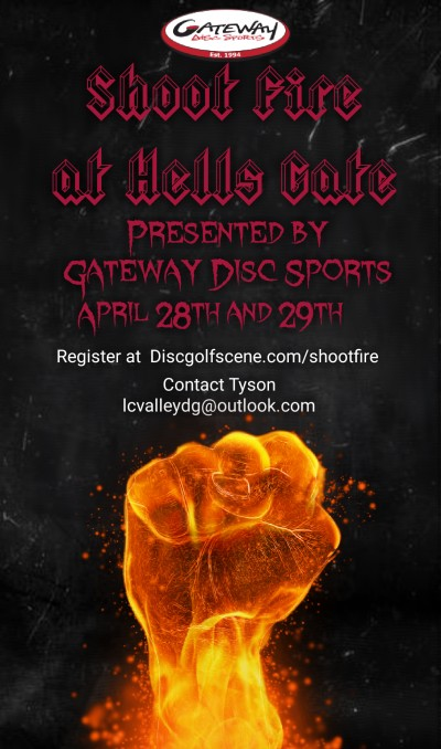 Shoot Fire at Hells Gate presented by Gateway Disc Sports logo