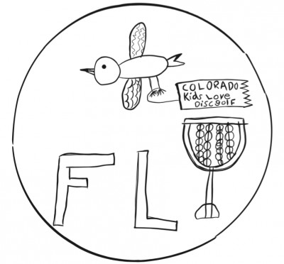 Fly! Colorado Kids Love Disc Golf logo