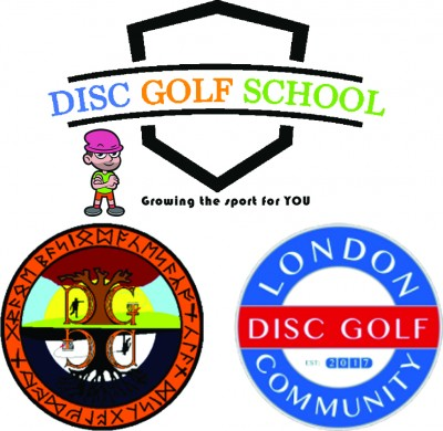 "CROYDON does ""The National Disc Golf Day 2018"" logo"