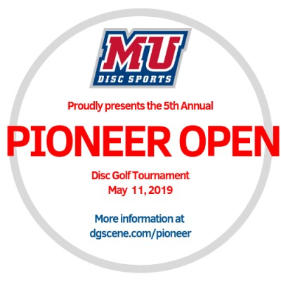 5th Annual Pioneer Open sponsored by MVP Disc Sports logo