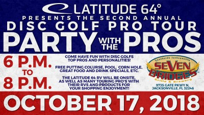 Party with the Pro's presented by Latitude 64 Sponsored by Seven Bridges Brewery logo