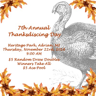 7th Annual Thanksdiscing Day 2018 logo