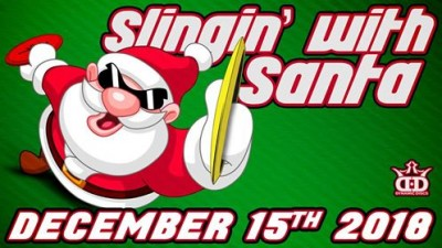 Slingin with Santa presented by The Cowhead logo