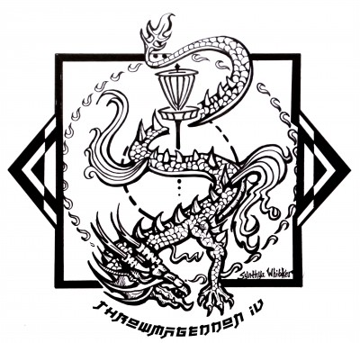 Throwmageddon IV sponsored by Dynamic Discs logo