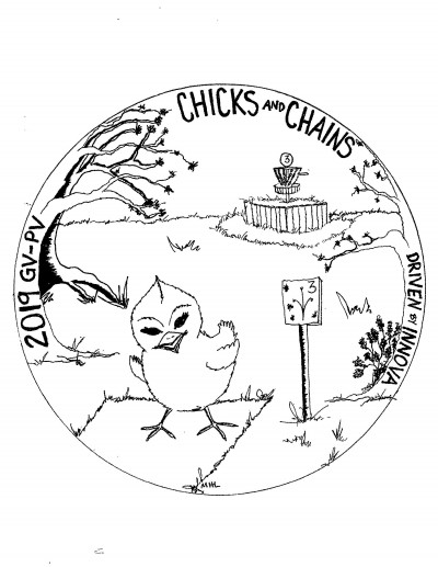 Chicks and Chains logo