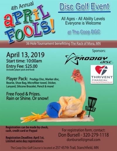 4th Annual APril Fools Disc Golf Event logo