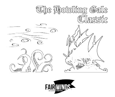 The Howling Gale Classic sponsored by Fair Winds Brewing Company - All AM except MA1 logo