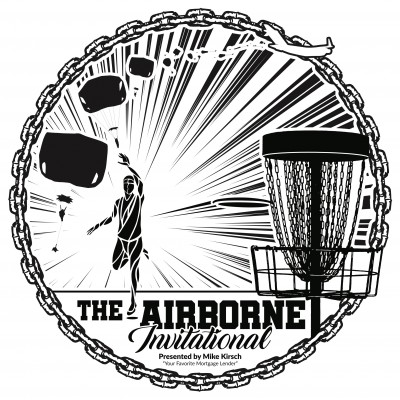 "The Airborne Invitational Presented by Mike Kirsch, ""Your Favorite Mortgage Lender"" logo"