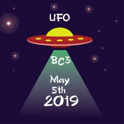 The UFO at BC3 logo
